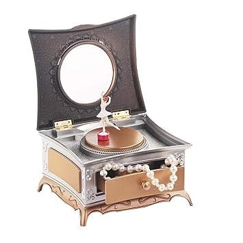 Lispeed Parte Reloj Joyero con Parte Relojes para niños niña clásica giran niña Parte Reloj con