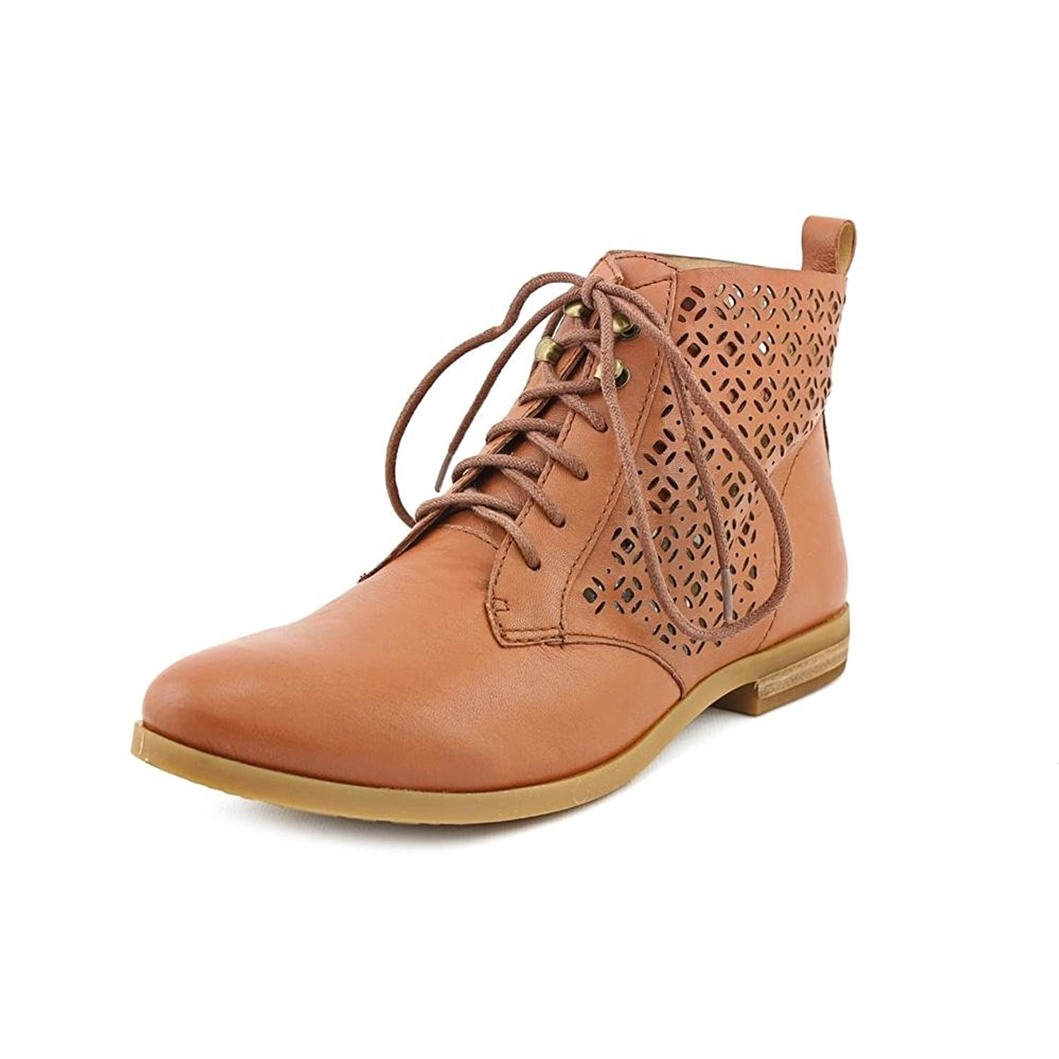 Lucky Brand Womens Hirro Leather Oxford Ankle Boots