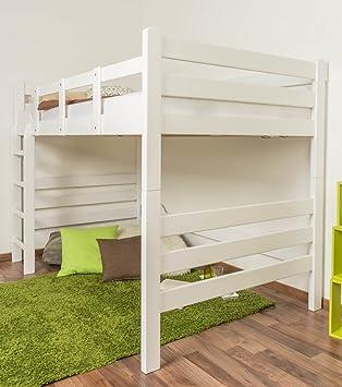 Hochbett Für Erwachsene U0026quot;Easy Sleepu0026quot; K15/n, Buche Vollholz Massiv  Weiß