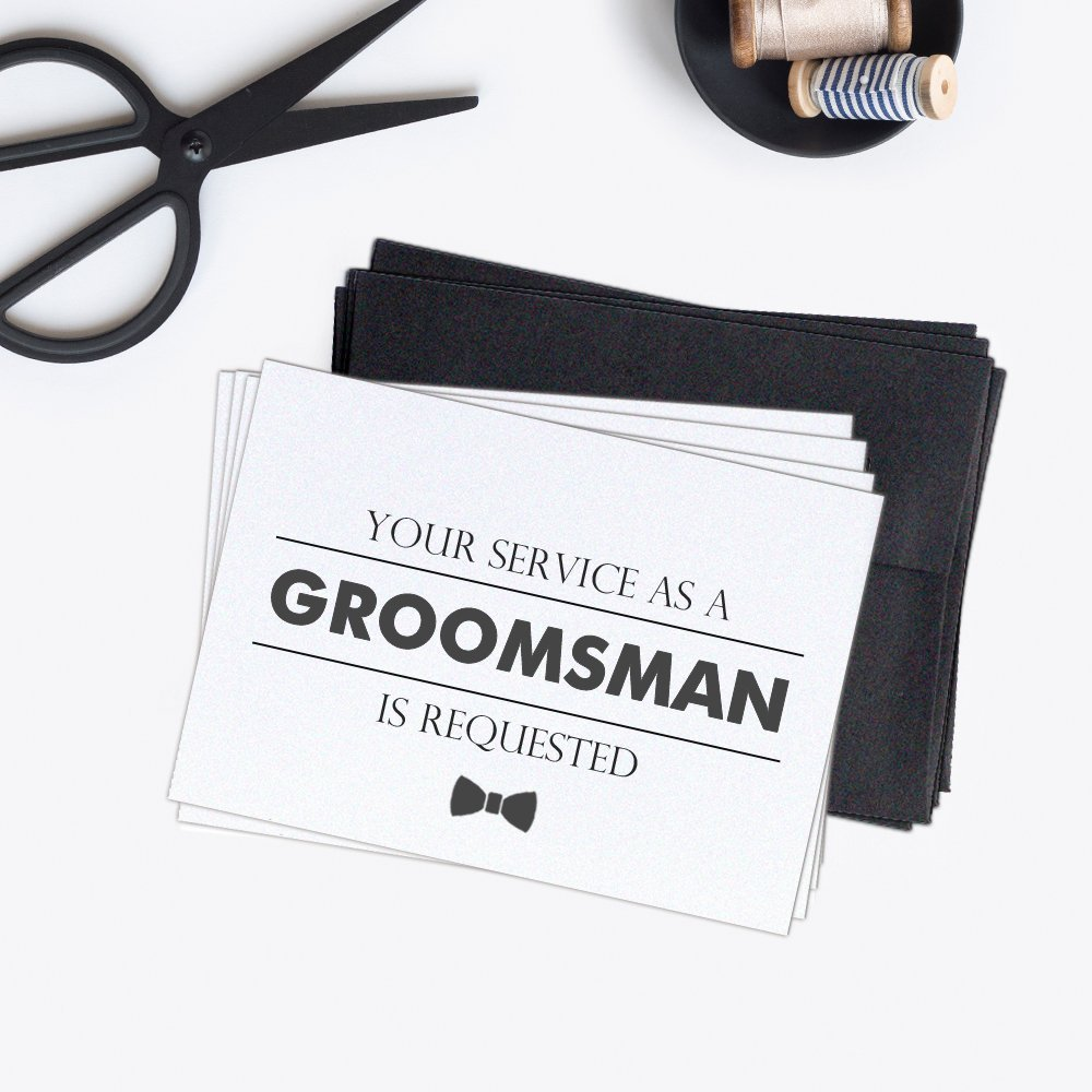 Groomsman card (set of 4) - Will you be my groomsman card - Groomsman cards pack CM002