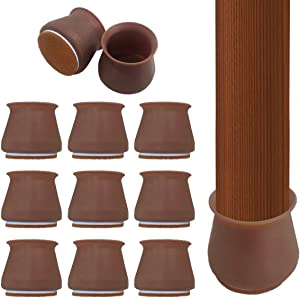 Silicone Chair Legs Floor Protectors Caps, 32Pcs Furniture Silicon Protection Cover with Felt Pads, Anti-Slip Table Feet