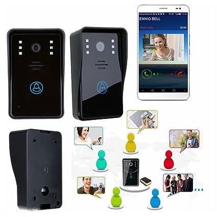 Smart Wireless WiFi Video Camera Door Phone Doorbell Intercom Monitor Security  sc 1 st  Amazon.com & Smart Wireless WiFi Video Camera Door Phone Doorbell Intercom ...