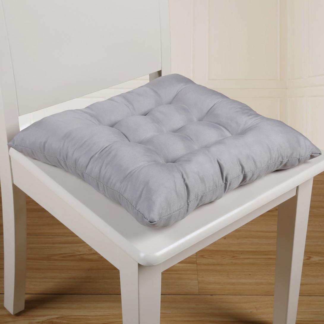Hkfv creative morbido comodo cuscino Home Office quadrato in cotone cuscino del sedile glutei sedia imbottitura memory cotone, Bordeaux, Approx.40*40cm (15.7*15.7)