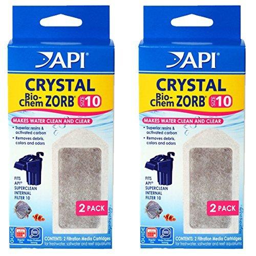 API 4 Count Crystal Bio-Chem Zorb Internal Filter Cartridge