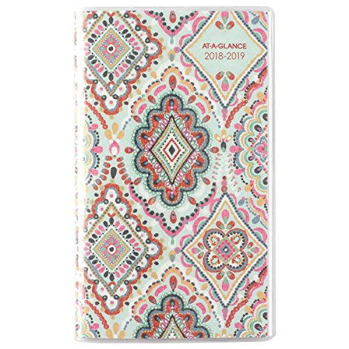 "AT-A-GLANCE Monthly Pocket Planner, January 2018 - January 2020, 3-5/8"" x 6-1/16"", Marrakesh (182-021)"