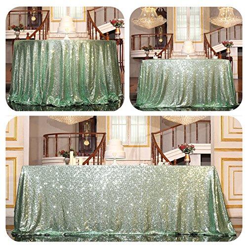 PartyDelight Sequin Tablecloth, Christmas Wedding Party decor Table Topper, Rectangular, 60