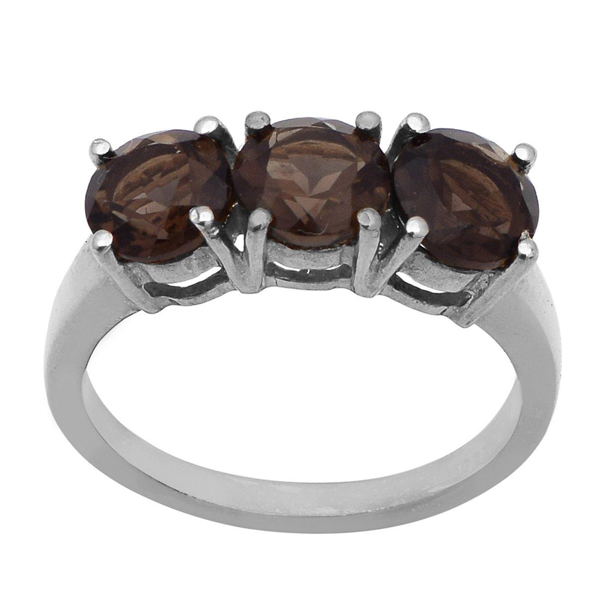 Newest Design Jewelry 925 Sterling Silver Smoky Gemstone Ring
