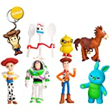Pantyshka Toy Story Toys – Set of 7 Action Figures with Woody, Buzz and Jessie – Premium Animated Collection with…
