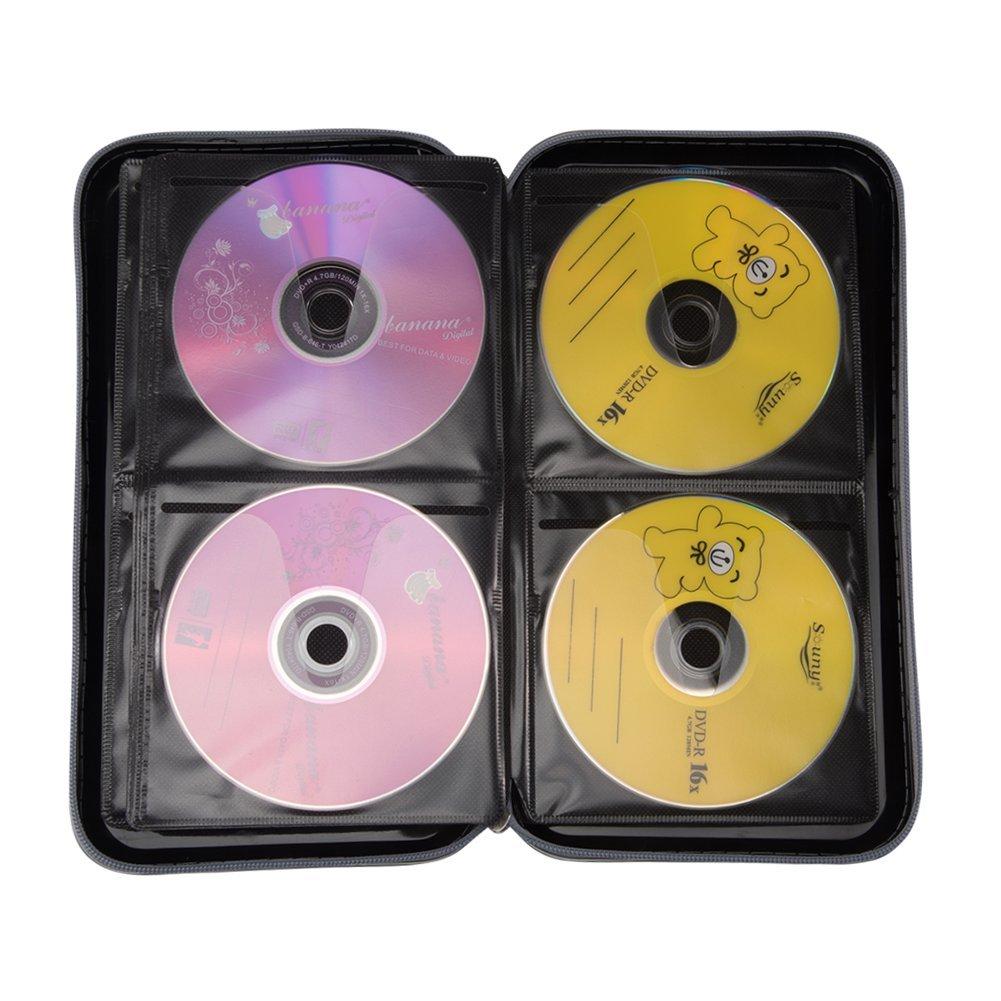 Amazon.com: Nizzco - Cartera portátil de 72 discos CD/DVD ...
