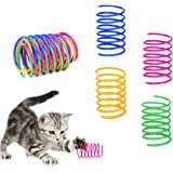 Andiker Cat Spiral Spring, 12 Pc Cat Creative Toy to Kill Time and Keep Fit Interactive cat Toy Durable Heavy Plastic…