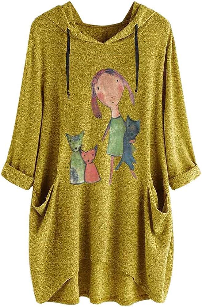 Camiseta Mujer Verano Moda Oreja de Gato Impresión Manga Corta ...