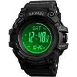 Watch Compass, Altimeter Barometer Thermometer Temperature, Pedometer Watch, Military Army Waterproof Outdoors Sport Digital