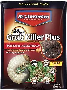 BioAdvanced, Granules, Bayer Advanced 700745S 24 Hour Grub Killer Plus, 20-Pound