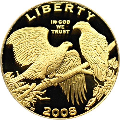 2008 W $5 Modern Commems - Gold Bald Eagle Five Dollar PR70 PCGS DCAM