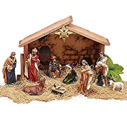 Burton & Burton Jesus in Manger 9PC