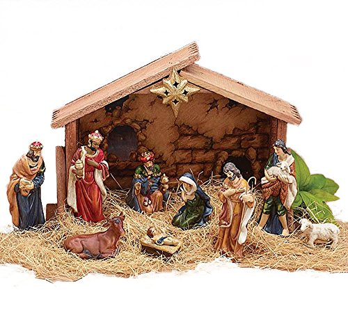 9pc Holiday Nativity Set - Nativity Christmas Figurine Sheep