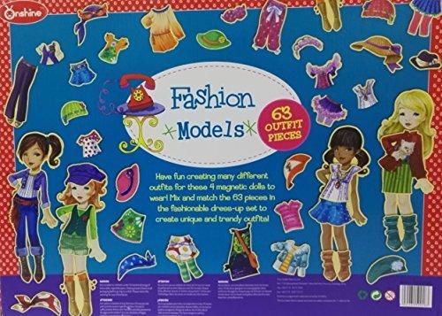 Darius 63 pcs Wooden Magnetic Dress-Up Dolls
