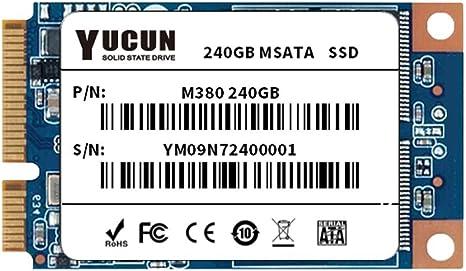 YUCUN MSATA III Disco Duro sólido Interno de Estado sólido 240GB ...