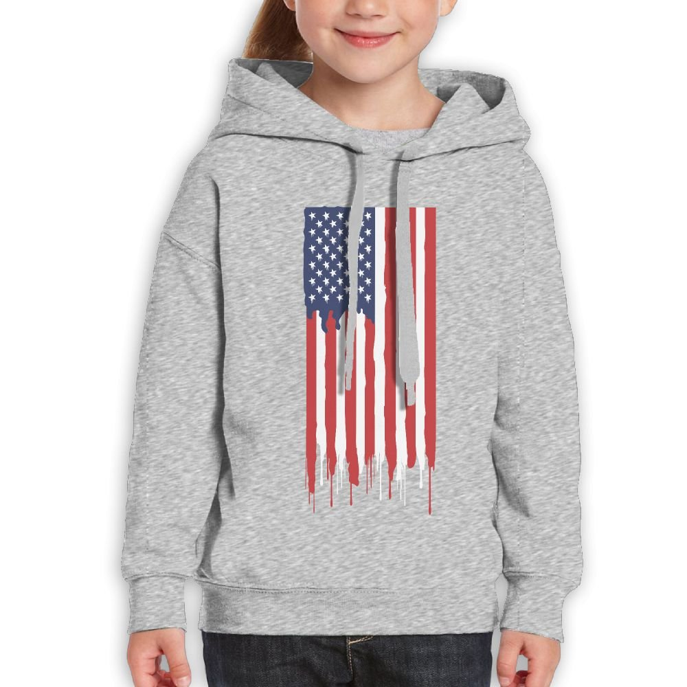 DTMN7 America Flag 2018 Style Printed Cotton Pullover For Kids Unisex Spring Autumn Winter