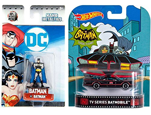 Harley Quinn Batman The Animated Series Costume (Hot Wheels Batman Classic TV Series Batmobile & DC Batman 2017 The Animated Series Nano Metalfigs Batman 1.5-Inch Diecast Figure DC7 Die-Cast Set)