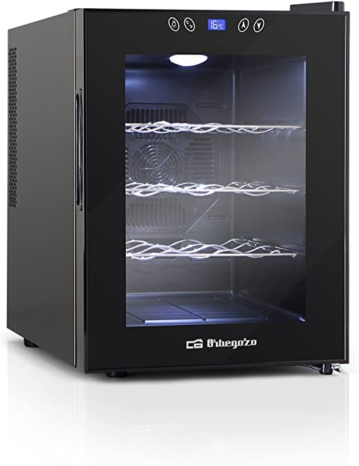Orbegozo VT 1220 - Vinoteca 12 botellas, 33 l, 70 W, LED, display ...