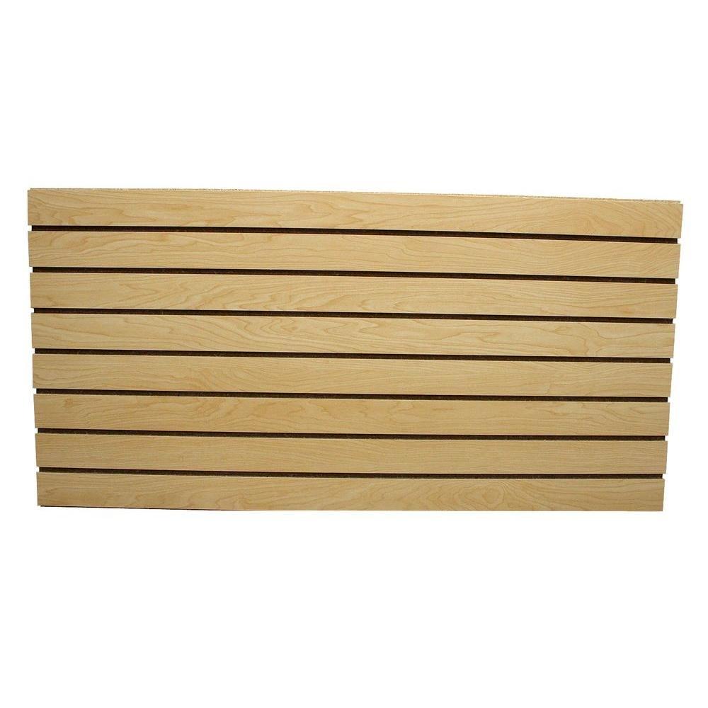 GarageEscape 2 ft. x 4 ft. Maple Slatwall Easy Panel (2-Piece per Box)