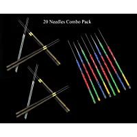 Embroiderymaterial Aari Embroidery Needles Combo Pack for Beading and Embroidery Purpose Pack of 20