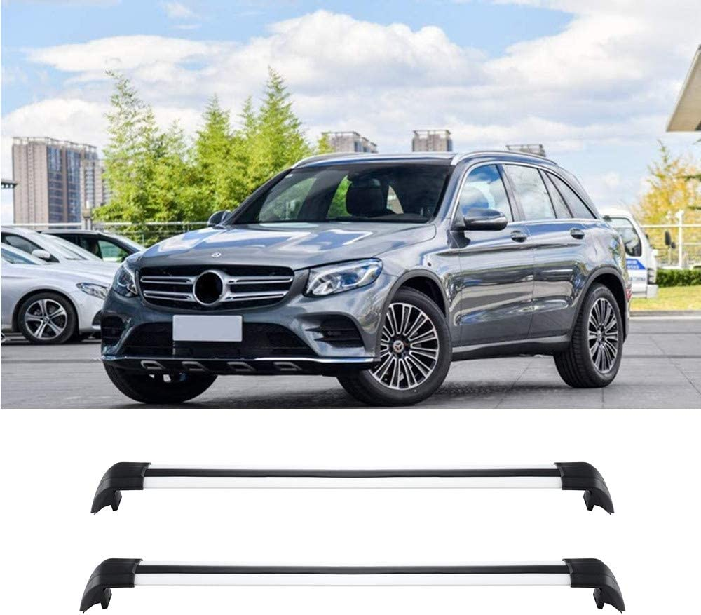 MotorFansClub Roof Rack Cross Bars Fit for Compatible with Mercedes Benz GLK X204 GLK350 2009-2015 Crossbar Luggage Rack