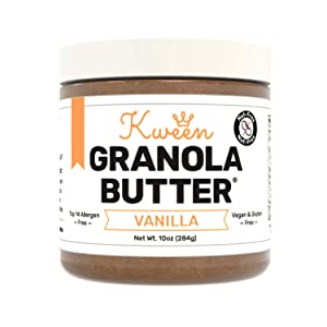 Kween Vanilla Granola Butter | Tree Nut Free, Peanut Free, and Allergen Friendly Snack Spread