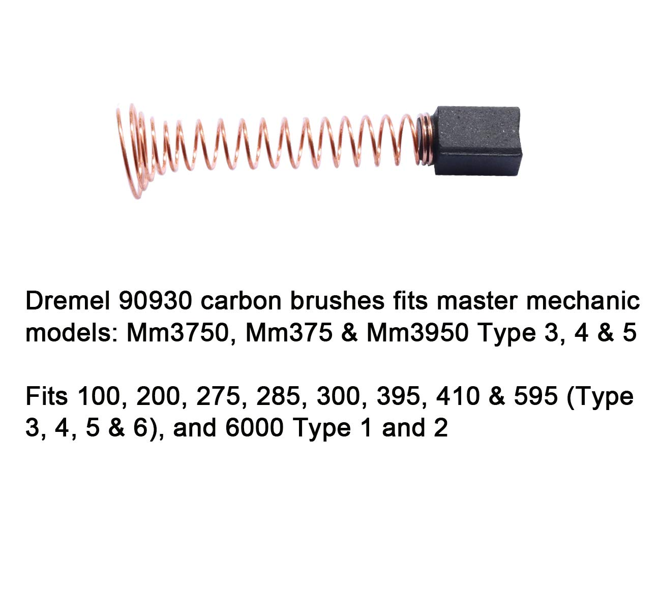 300 Type 3,4,5 6 PCS Carbon Motor Brushes Compatible Dremel 90930-05 Brush Repairing Part for Dremel 275 395 285 595