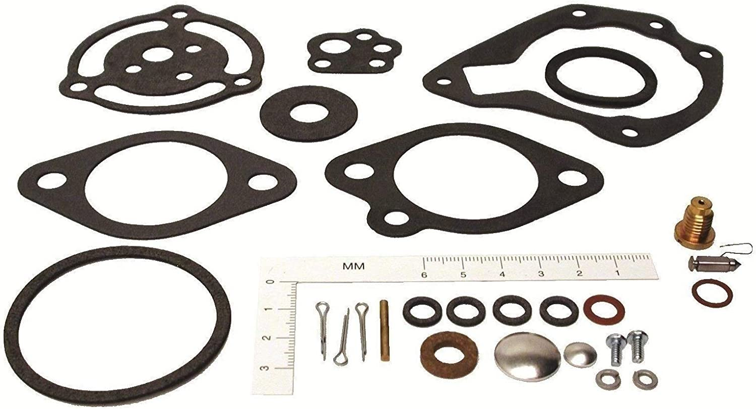 GLM Carburetor Repair Kit for Johnson & Evinrude 5, 6, 25, 30, 35, 40 Hp Replaces 382053 385356 18-7024 Please Read Product Description Below for Exact Applications