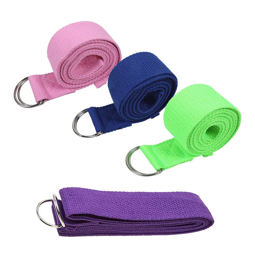 KINDOYO Cinturón de Yoga - Cinturon de Algodón Duraderos con ...