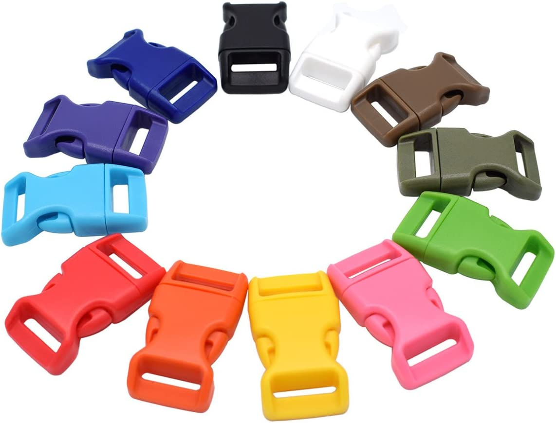 5//8/'/' inch Curved side release plastic Buckle for Paracord Bracelets U pick qty