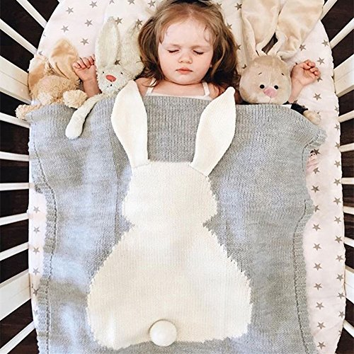 Kids Blankets,SUNBABY Cute Rabbit Crochet Newborn Blanket Baby Bedding Cover Bath Towels Play Mat - Crochet Rabbit