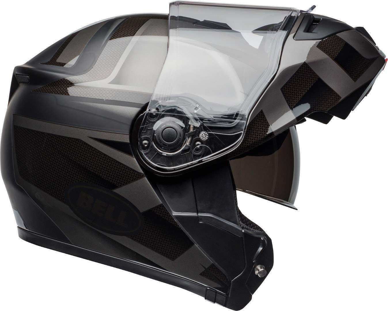 7095619 Bell SRT Blackout Flip Front Motorcycle Helmet L Black