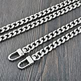 Flat Shape Wide 9mm Silvery Chain For Mini Women bags Replacement purse chain / chain strap / chain purse strap / purse chain straps DIY (length 39 inch)