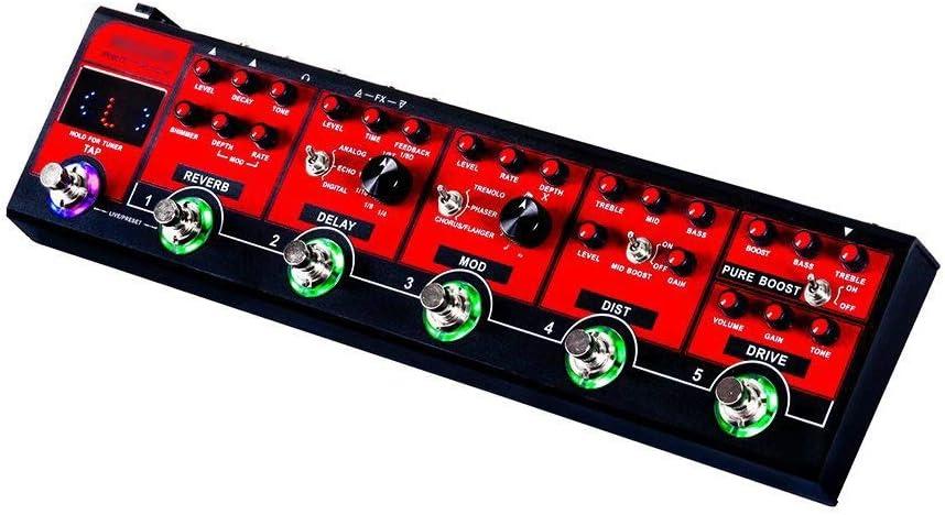 ZDAMN Procesador de Efectos de Guitarra 6 en 1 Camión Rojo Efectos de Guitarra Pedal de Guitarra eléctrica multiefecto Pedal de Guitarra Accesorios para afinación de Guitarra