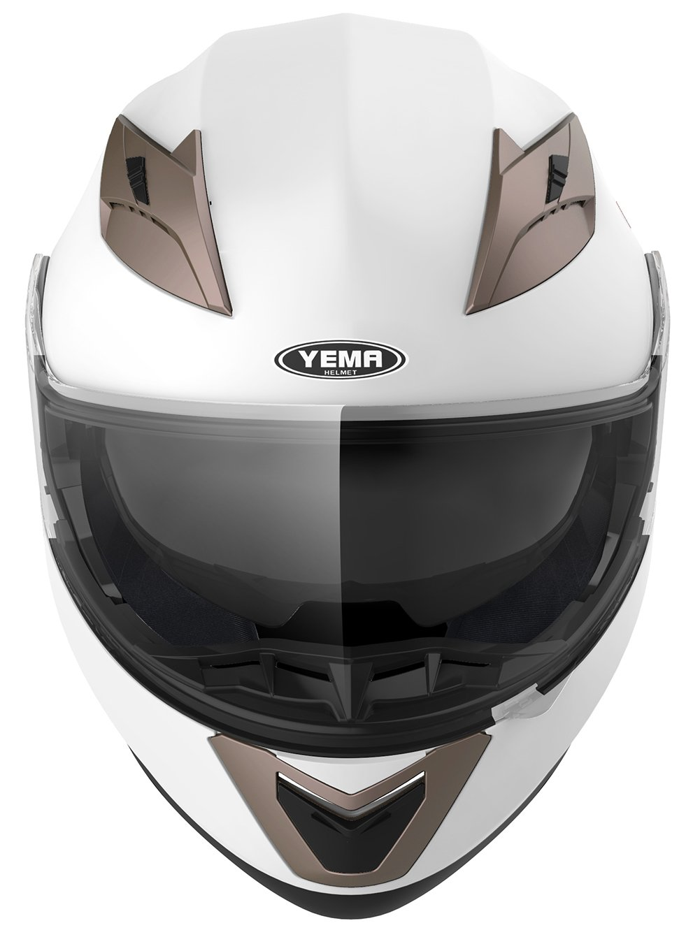 YEMA Helmet Visor Face Shield for YM-925 and YM-926 Clear Visor with Pinlock