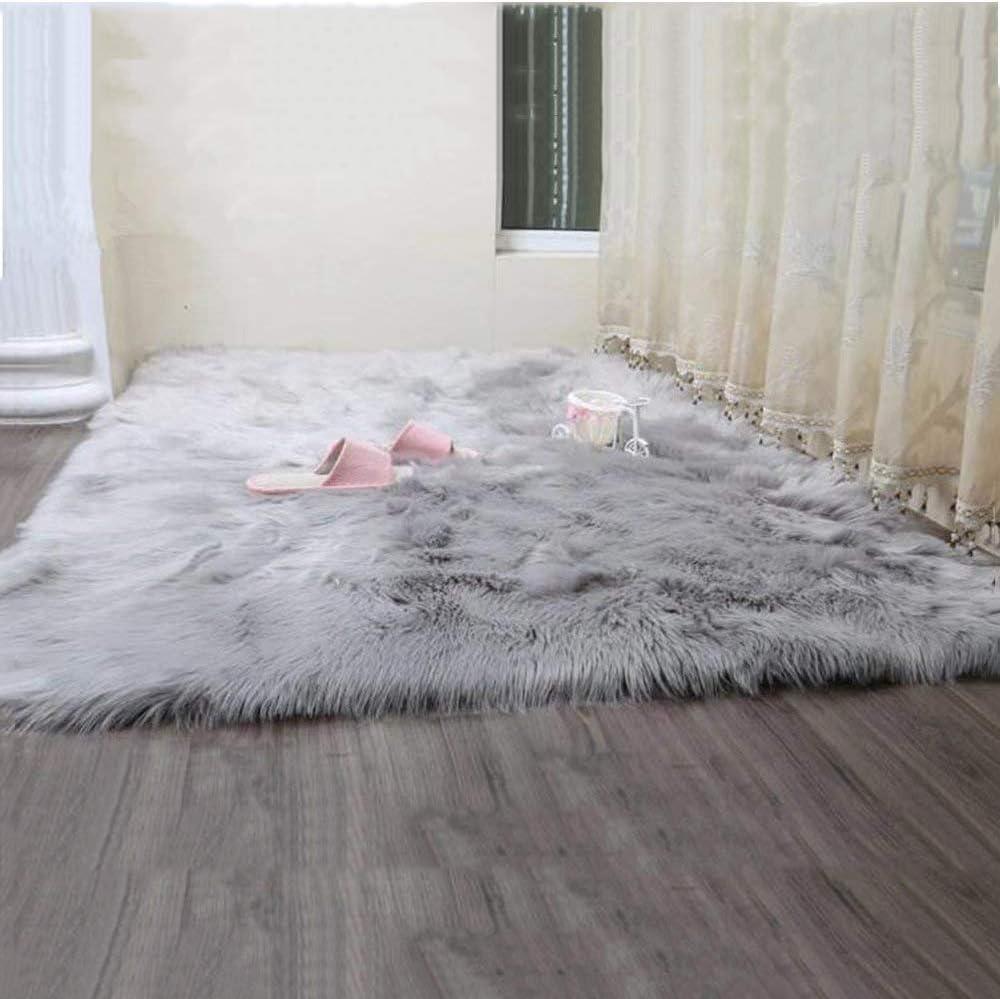 Fellteppich f/ür Wohnzimmersofas Teppiche Wei/ß-75 x 120 cm Kinderzimmer und Schlafzimmer Warme Kunstpelz-Haushaltspelz-Teppiche Weiche und Bequeme Flauschige Langhaarige Lammfell-Teppiche