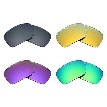 f48a06a9c1 MRY 4 pares polarizadas lentes de repuesto para Oakley Turbine sunglasses-black  Iridio/24 K Oro/Plasma, Color Morado/Verde: Amazon.es: Deportes y aire libre