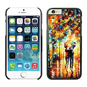 iphone 5/5s Case Inches, Romantic Art Rain Day Street Slim Black Phone Protective Cover Case for Apple iphone 5/5s Mobile Accessories