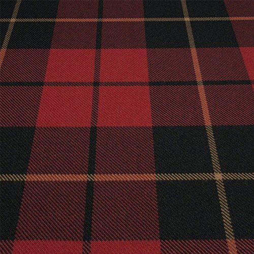 Heavy Weight 16oz Fabric Material Wallace Red Weathered Tartan 1 Metre