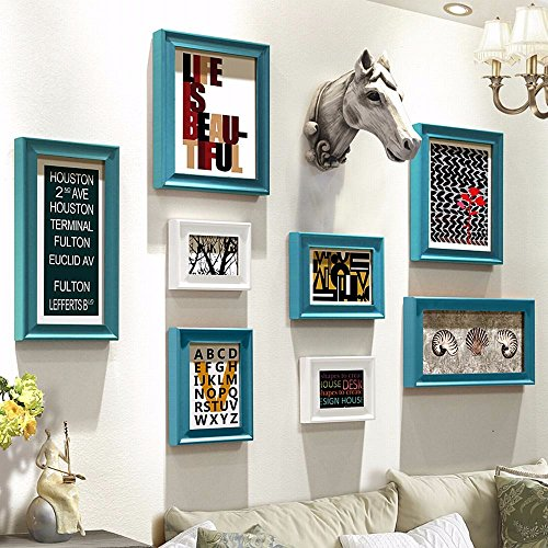 WUXK American Country picture wall wall photo frame wall photo wall combination of creative wall decoration,5 by WUXK