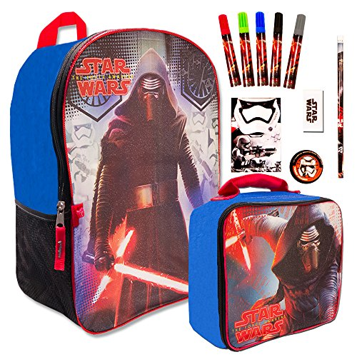 Star Wars Kylo Ren Backpack with Lunch Box and School Supplies (16