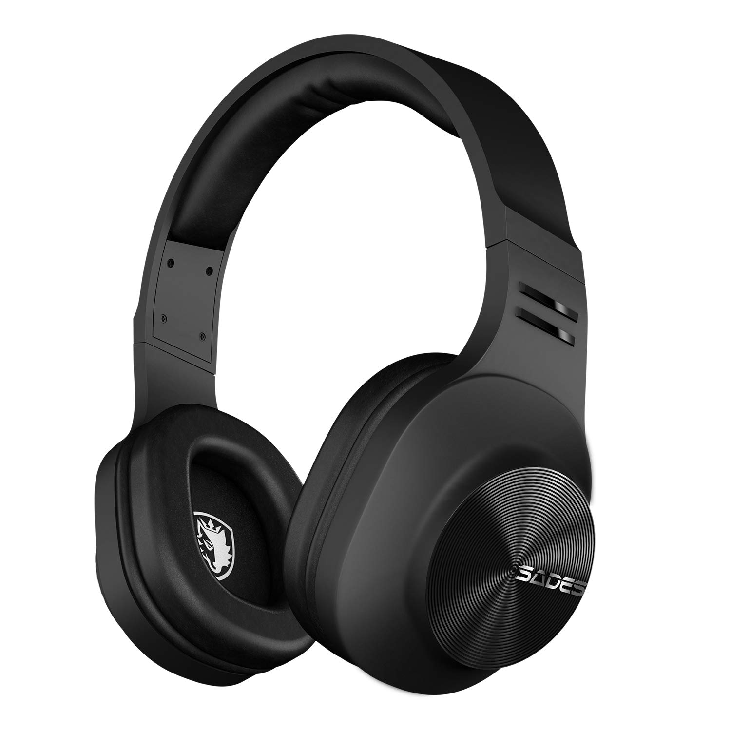 SADES D808 Bluetooth Headphone Over Ear, Wireless Headphones with mic for Music/Cell Phone/TV/PC(Blcak Headphone)