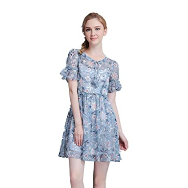 db4251bfc16 Ouchang Women s 1950 s Floral Retro Swing Dress Party Cocktail Dress ...