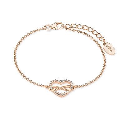 d6fdb08da074 Oliver Damen Armband mit Anhänger Herz Infinity 925 Sterling Silber  Zirkonia weiß