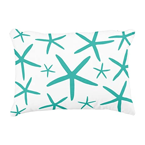 Amazon Zazzle Skinny Starfish Teal Decorative Pillow Home Custom Long Skinny Decorative Pillows