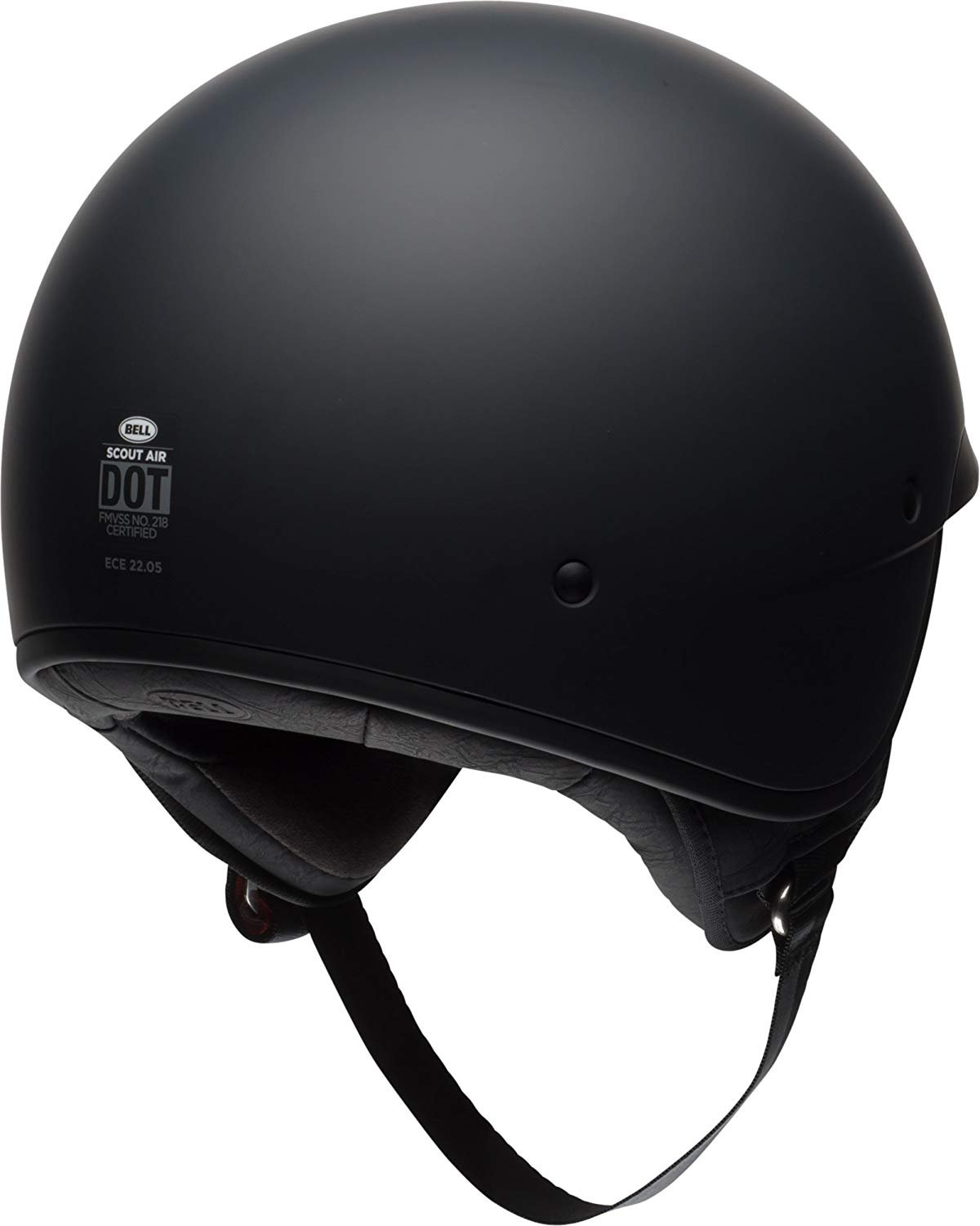 Bell Scout Air Motorcycle Helmet Solid Matte Black, Large