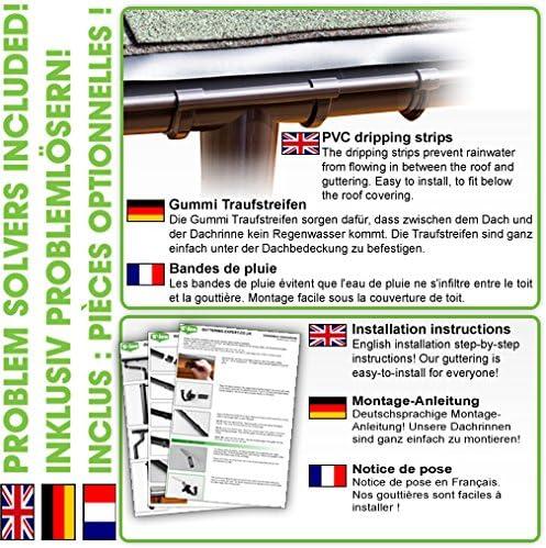 Dachrinnen//Regenrinnen Set | Kastenrinnen Komplettes Set bis 3.50 m 1 Dachseite in braun! BG70 Kastendachrinnen Pultdach